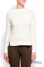 klasyczny sweter Mango w kolorze bia�ym - ubrania na jesie� i zim� 2012/13