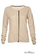 elegancki sweter Solar w kolorze be�owym - modne sweterki