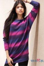 lu�ny sweter H&M w kolorze fioletowym   - sweterki na jesie� i zim�