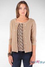 elegancki sweterek Stradivarius w kolorze be�owym   - ciep�e swetry 2012/13