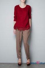 zjawiskowy sweter ZARA w kolorze bordowym  - modne sweterki