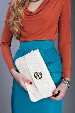 elegancka kopert�wka Pretty Girl w kolorze ecru - moda damska 2012/13
