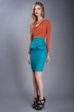 o��wkowa sp�dnica Pretty Girl w kolorze turkusowym - ubrania dla kobiet na jesie� i zim�