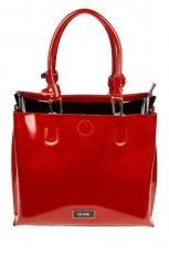 Klasyczna czerwona torebka Ochnik lakierowana - jesie�-zima 2012/2013