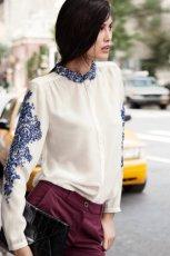 Urocza bia�a koszula H&M lu�na jesienno-zimowa 2012/13