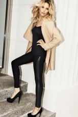 czarne legginsy Mohito - jesie� 2012