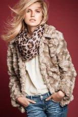 kurtka H&M z futerka w kolorze szarym - jesie�-zima 2012/2013