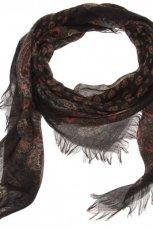 Klasyczny czarny szal Parfois z fr�dzlami z kolekcji jesie�/zima 2012/2013