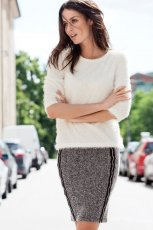 kr�tka sp�dnica H&M w kolorze szarym - sp�dniczki na jesie� i zim�