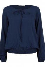 elegancka bluzeczka Cubus w kolorze granatowym - moda na jesie� i zim�