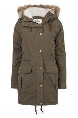 d�uga kurtka Cubus w kolorze khaki - moda na jesie� i zim�