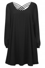 rozkloszowana sukienka Cubus w kolorze czarnym - kolekcja damska