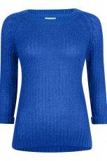 modny z r�kawem 3/4 sweter Cubus w kolorze kobaltowym - kolekcja damska