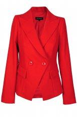 �liczny p�aszczyk Caterina w kolorze czerwonym - kolekcja na jesie� i zim�