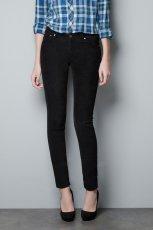dopasowane spodnie ZARA w kolorze czarnym - moda damska