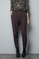 spodnie ZARA w kolorze br�zowym - moda damska