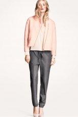 �liczne spodnie H&M ze �ci�gaczami w kolorze szarym - kolekcja damska