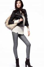 �liczne spodnie H&M w kolorze srebrnym - moda na jesie� i zim�