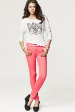 rurki H&M w kolorze koralowym - moda na jesie� i zim�