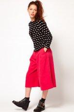 spodnie 3/4 Asos w kolorze czerwonym - kolekcja damska