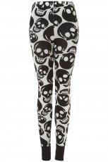 legginsy Topshop w kolorze szarym w trupie czaszki - moda damska na jesie� i zim�