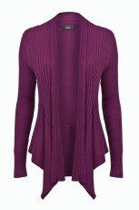kardigan F&F w kolorze fioletowym - ubrania dla kobiet na jesie� i zim�