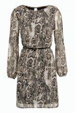 zwiewna sukienka F&F w panterk� - jesie� i zima 2012/13