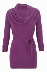 ciep�a sukienka F&F w kolorze fioletowym - ubrania dla kobiet na jesie� i zim�