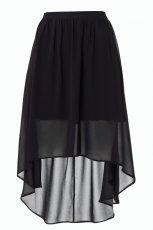 asymetryczna sp�dnica F&F w kolorze czarnym - ubrania dla kobiet 2012/13