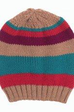 kolorowa w paski czapka F&F - modne dodatki 2012/13