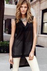 asymetryczna bluzeczka H&M w kolorze czarnym - moda damska 2012/13