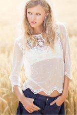 prze�wituj�ca bluzeczka H&M w kolorze bia�ym - kolekcja na jesie� i zim� 2012/13