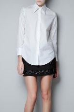 elegancka koszula ZARA w kolorze bia�ym - moda damska 2012/13