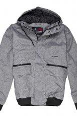 Sza�owa szara kurtka Cropp z kapturem trendy na jesie�-zim�