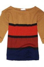 Klasyczny kolorowy sweter Cropp w paski HIT
