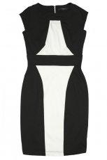 panelowa sukienka Reserved w kolorze czarno - bia�ym - modne sukienki
