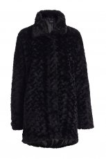 gruby p�aszcz Lindex w kolorze czarnym - kolekcja damska