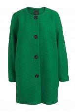 prosty p�aszcz Lindex w kolorze zielonym - kolekcja damska