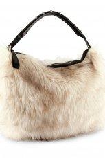 futrzana torebka H&M w kolorze be�owym - torebki na jesie� i zim�