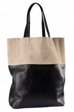 du�a torebka H&M w kolorze czarno - be�owym - najmodniejsze torebki