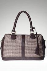 modny kuferek Stradivarius w kratk� - modne torebki na jesie� i zim�