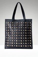 du�a torba Stradivarius z �wiekami w kolorze czarnym - modne torebki na jesie� i zim�