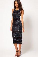 dopasowana sukienka Asos w kolorze czarnym - Best Night Ever Asos