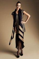 d�ugi szal Reserved w kolorze czarno - br�zowym - moda dla kobiet