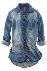niebieska koszula H&M jeansowa  - moda uliczna