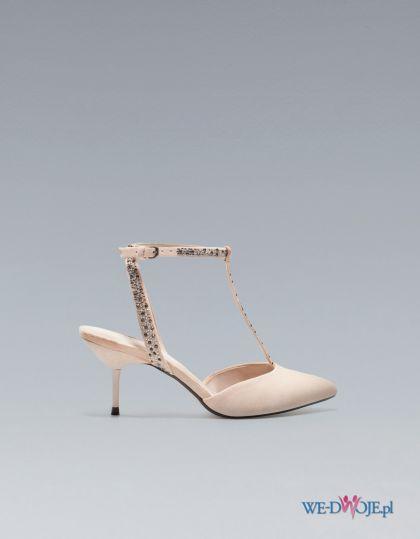 buty �lubne ZARA z paskiem