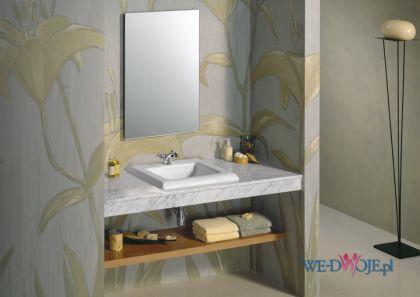 Urzekaj�ca umywalka �azienka Roca w stylu klasycznym w kolorze szaro�ci i z�ota