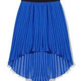 plisowana sp�dniczka House w kolorze niebieskim - moda sylwestrowa 2012