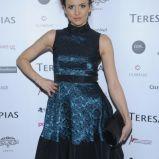 rozkloszowana sukienka w kolorze granatowym - Kasia Nova
