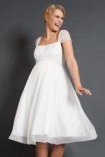 suknia �lubna Tiffany Rose z kr�tkam r�kawem